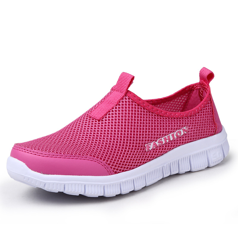 Summer Men And Women Sports Tennis Shoes Mesh Breathable Small Feet Lightweight Large Size Fitness River Shoes