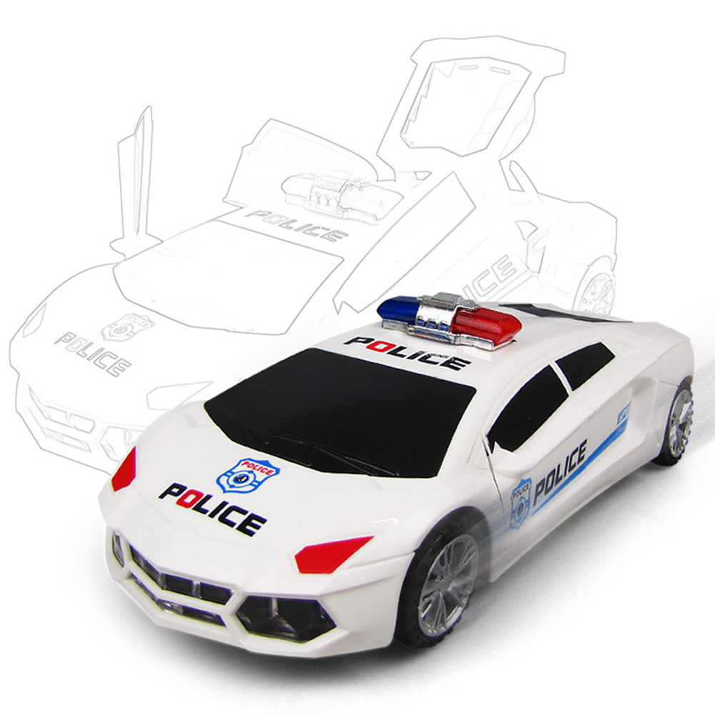 Image 2 - 360 Degree Rotary Wheels Cool Lighting Music Kids Electronic Police Cars Toy Early Educational Toys For Baby Boys Kids Gifts-in Diecasts & Toy Vehicles from Toys & Hobbies