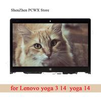 14.0 Touch Screen Assembly for Lenovo YOGA 3 14 YOGA 14 NV140FHM A10 FHD 1920*1080 IPS Matrix Laptop LCD LED Display Panel 30pin