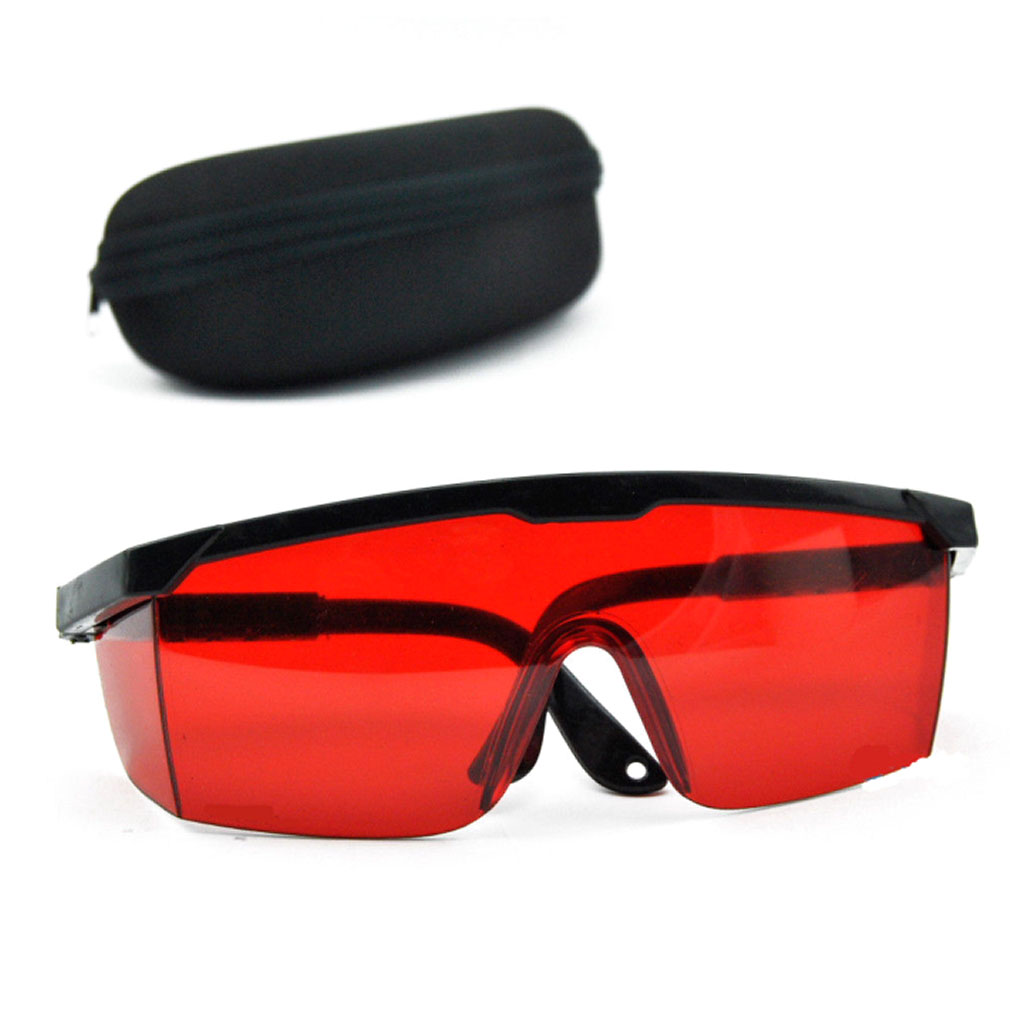 New Laser Goggles Eye Protection Blue Lens For Preventing Red Lasers With Portable Carring Case IPL Safety Glasses