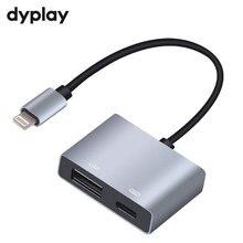 Cable de Adaptador USB OTG con interfaz de carga, convertidor para iSO 9 a 12, iPad Mini Air Pro, iPhone X, 8, 7, 6, 5 Plus, macho a hembra