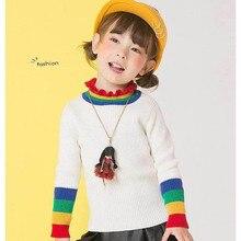 Модный Детский свитер на шнуровке; Новинка года; осенний свитер в западном стиле для девочек; универсальная Детская рубашка