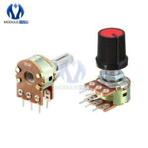 5PCS Resistor Linear Taper Rotary Potentiometer Cap Knob B1M Ohm B1K B2K B5K B10K B20K B50K B100K B250K B500K