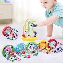 Montessori Gỗ Đồ Chơi Gỗ Vòng Tròn Đính Hạt Dây Mê Cung Tàu Lượn Giáo Dục Gỗ Ghép Hình Bé Trai Bé Gái Kid Đồ Chơi 6 + Tháng