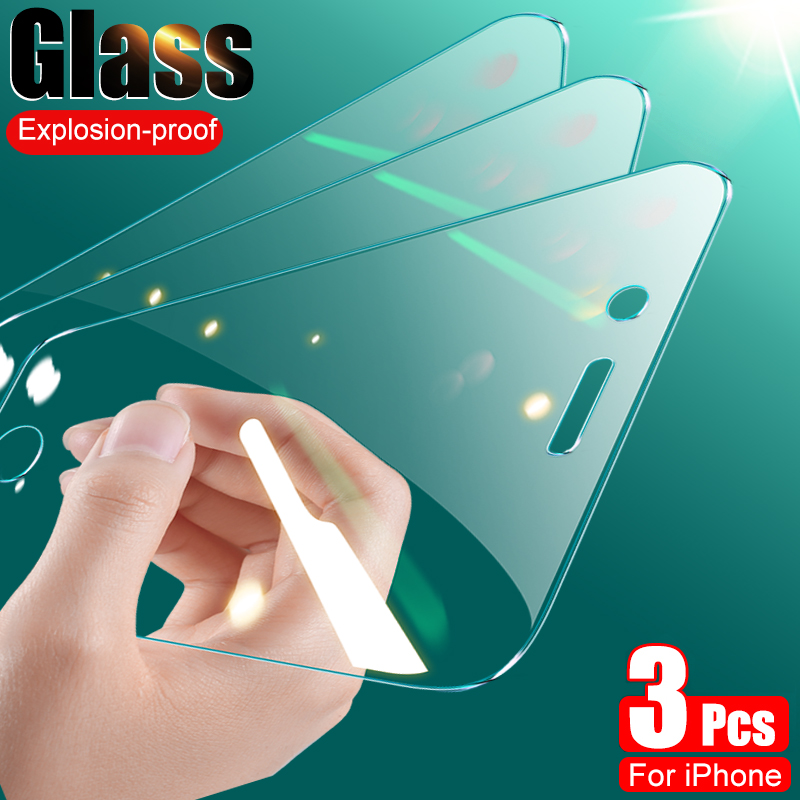3Pcs Full Cover Tempered Glass On The For iPhone 7 8 Plus SE 2020 Screen Protector Protective Glass on iPhone 7 8 6 6S Plus Film