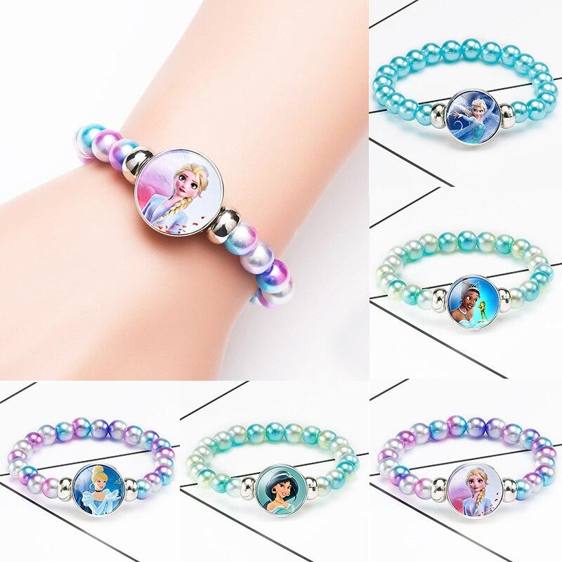 Anna And Elsa Fever 2 Children Bracelet Princess Sofia Bow Doll Accessories Girl Birthday Gift  Finger Toy