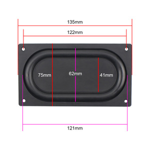 Image 3 - GHXAMP 135*75MM Bass Diaphragm Radiator Low Frequency Rubber 3.5 inch 4 inch Passive bass Vibration film New 2PCS
