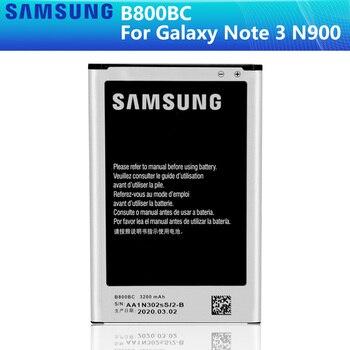 SAMSUNG Original Battery B800BE B800BC For Samsung GALAXY NOTE 3 Note3 N9006 N9005 N900 N9009 N9008 N9002 NFC 3200mAh Authentic