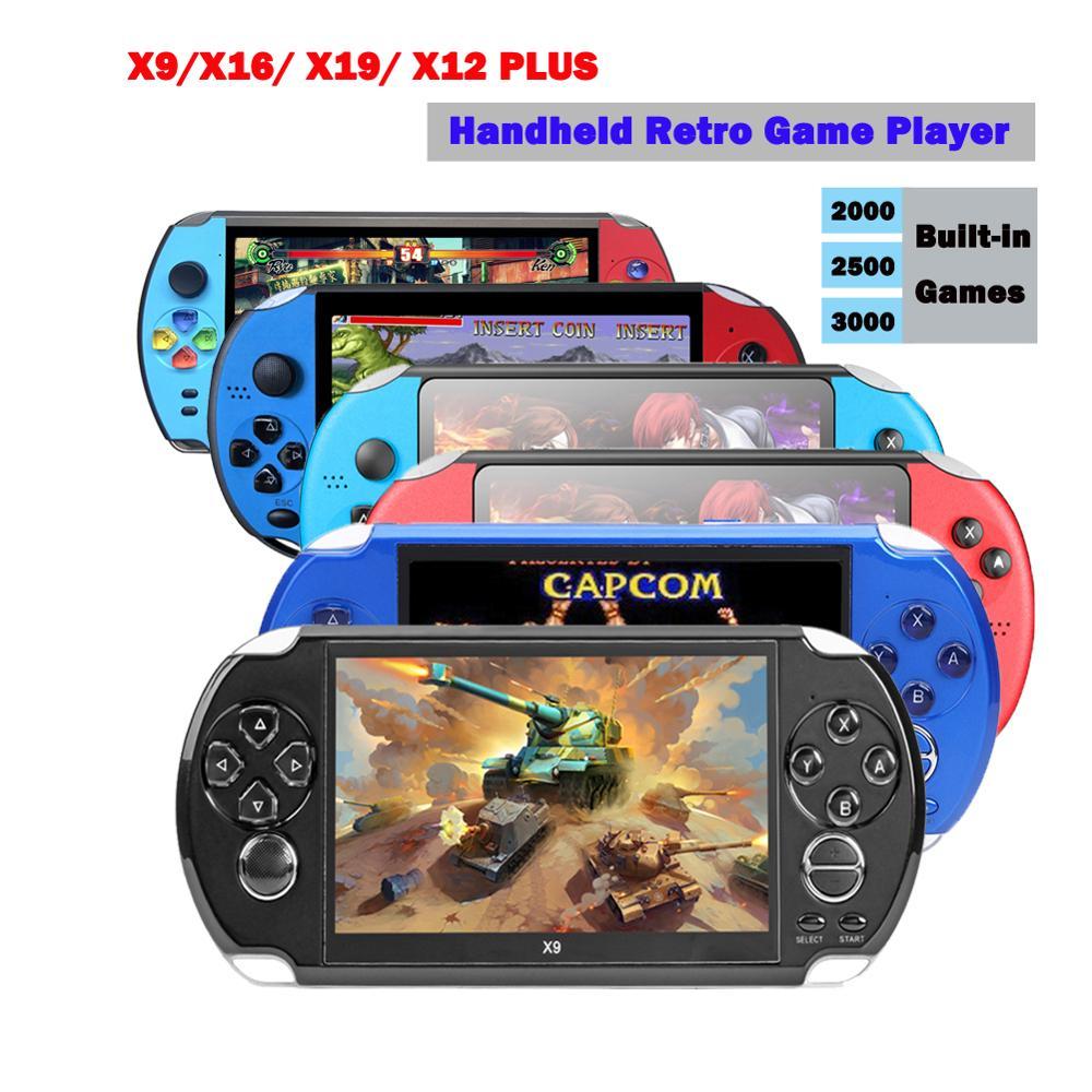 X9/X16/ X19/ X12 PLUS Handheld Retro Game Player 8GB 16G Game Console Built-in 2500/3000 Games Video Gamepad for Neogeo Arcade