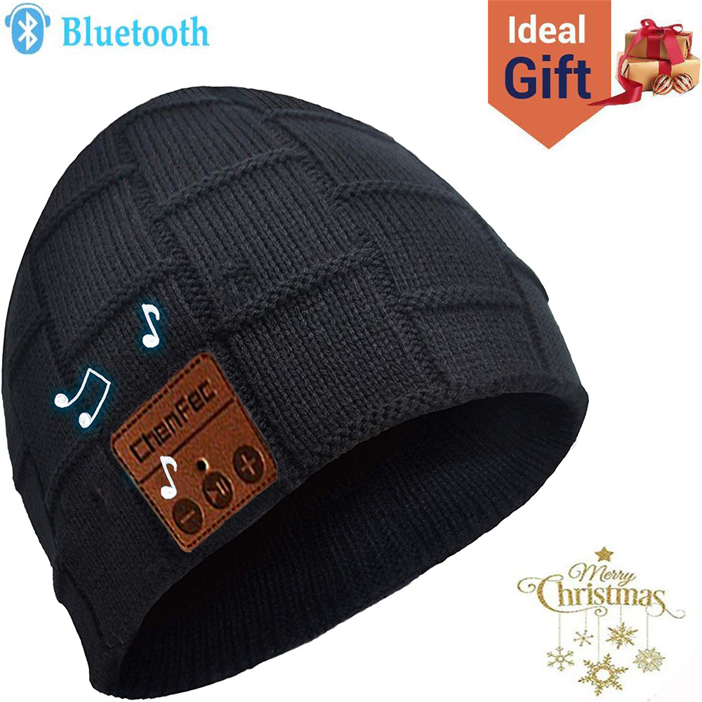 Wireless Bluetooth Knit Music Hat Smart Headset Headphone Earphone with Speaker Mic Winter Outdoor,Best Christmas New Year Gift