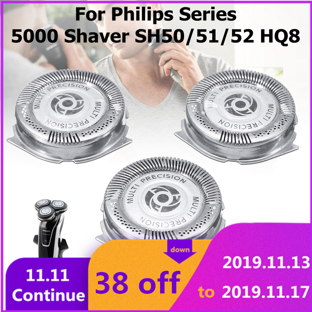 3Pcs Shaver Replacement Cutter Tips For PHILIPS Series 5000 Shaver SH50/51/52 HQ8 New Brand Shaver Head Bulk Free Shipping
