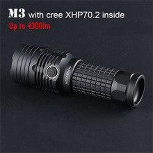 Most Powerfull Led Flashlight Convoy M3 with Cree XHP70.2 4300lm Lanterna 26650 Torch Work Flash Light Hunting Camp Lantern