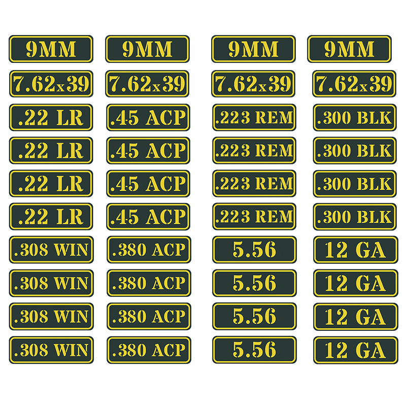 """223 WYLDE Ammo Can Labels Ammunition Decals Stickers 2 pack PINK BLACK 3/"""""""