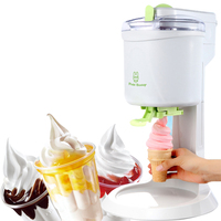 Hot Sale Soft Service Ice Cream Machine Child Fruit Sweet Tube Ice Cream Maker Household Old Fashioned DIY Icecream Machine 220V