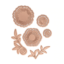 Blooming Flowers Metal Hot Foil Plates for DIY Scrapbooking Letterpress Embossing Cards Making Crafts New 2019