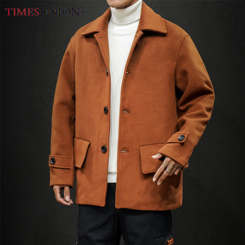 2020 Winter Wool Jacket Men High-quality Wool Coat Casual Loose Collar Wool Coat Men's Trench Coat 4XL 5XL