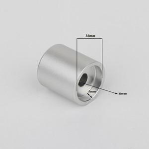 Image 2 - Preffair 4 * KN2022 מחורץ 100% מלא אלומיניום פוטנציומטר נפח ידיות מגבר Amp אפקט פדאל ידיות כסף עבור 6mm קוטר Knu