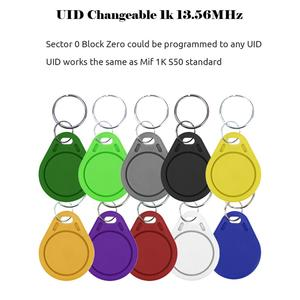 Image 2 - 100pcs UID Fob 13.56MHz בלוק 0 מגזר צריבת IC כרטיס שיבוט לשינוי החכם Keyfobs מפתח תגיות כרטיס 1K S50 RFID בקרת גישה