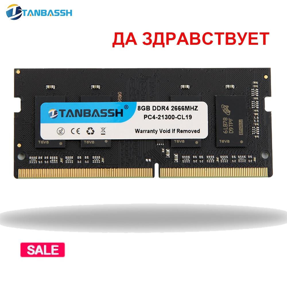 Tanbassh ddr4 4 gb 8 gb 2400 mhz 16 gb 2666 mhz ram sodimm memória portátil suporte memória notebook ddr4 garantia de vida