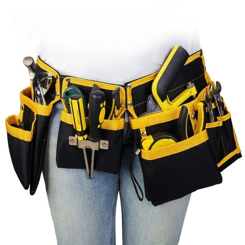 Oxford Cloth Multi-functional Electrician Tools Bag Waist Pouch Belt Storage Holder Organizer