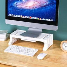 Computer Monitor Erhöhung Stand PP Material Laptop Tastatur Basis mit Schublade Make-Up Pinsel/Stift/Schreibwaren Desktop-Organizer