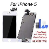 Pantalla LCD para iphone 5 pantalla LCD de montaje completo para iphone 5G pantalla táctil de reemplazo de pantalla LCD de teléfono móvil