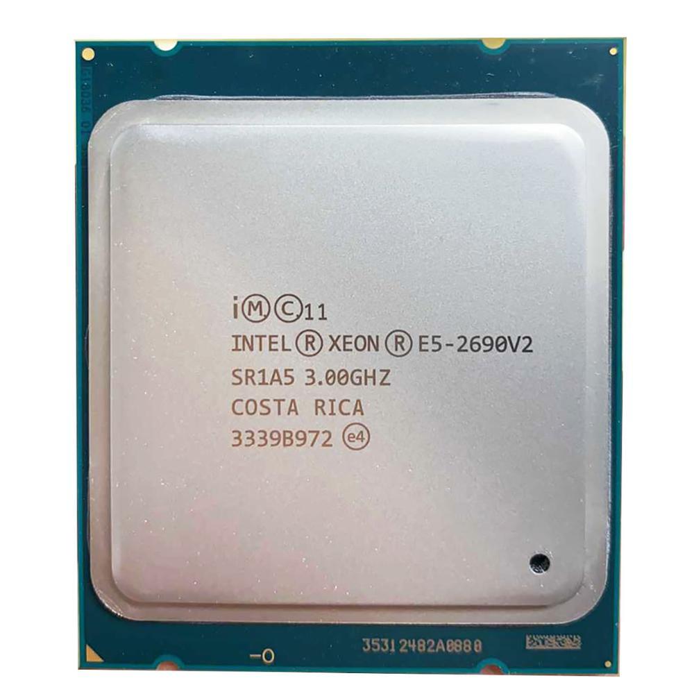 Intel E5-2690 v2 E5 2690 V2 E5 2690v2 Processor SR1A5 3.0Ghz 10 Core 25MB Socket LGA 2011 Xeon CPU
