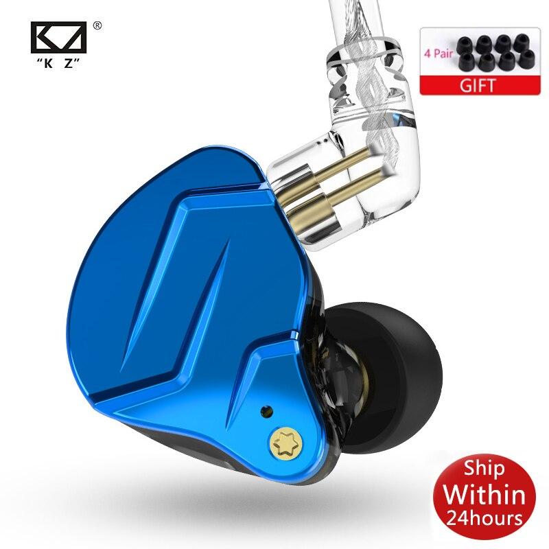 Металлические наушники KZ ZSN Pro X 1BA + 1DD, гибридные Hi-Fi наушники-вкладыши для монитора, басовые наушники, Спортивная гарнитура с шумоподавление...