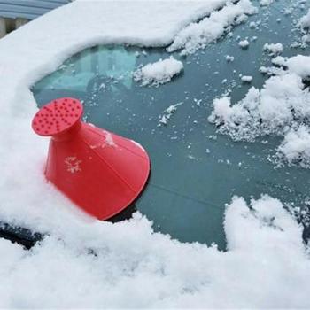 3 sztuk zestaw przednia szyba samochodu skrobaczka w kształcie stożka do usuwania śniegu łopata lejek zima Auto samochodów śnieg czyste narzędzie wielofunkcyjne tanie i dobre opinie VODOOL 14 5cm 10cm CN (pochodzenie)