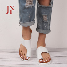 Womens leather sandals Wedge casual fashion shoes JF 2019 Solid color PU comfortable soft platform
