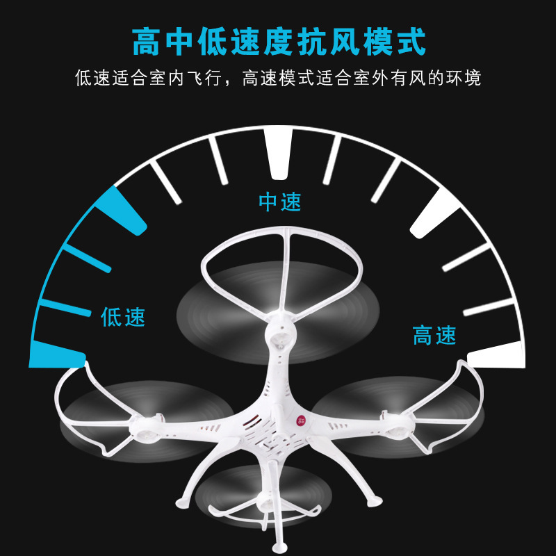 Hot Selling Remote Control Airplane Large Size Unmanned Aerial Vehicle Chargeable Model Airplane Quadcopter CHILDREN'S Toy