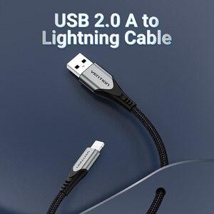 Image 2 - كابل شحن USB Vention MFi, لهاتف iPhone 12 Max 11 Xs X 8 Plus وكابل شحن USB سريع 2.4A لهاتف iPhone 12