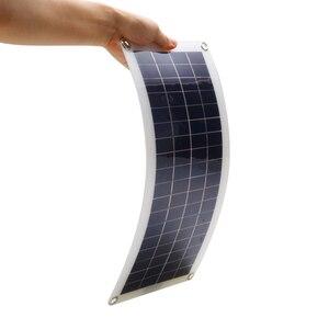 Image 5 - Panel Solar de 30W y 12V células solares de salida USB Dual, Panel Solar de polímero, controlador de 10/20/30/40/50A para cargador de bote de coche y Yate