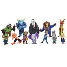 12 шт/компл disney pixar zootopia zootropolis игрушка модель