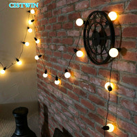 Light Bulb String LED Lamp StringChristmas Ball Wedding Decoration Festival Bulb Outdoor Courtyard Waterproof Color Lamp String