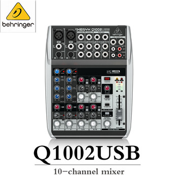 BEHRINGER XENYX Q1002USB Professional Home Mixer Small Sound Card Recording Output image