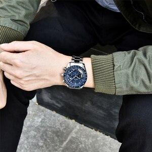 Image 3 - 2020 Horloge Mannen Luxe Merk Benyar Mannen Blauw Horloge Roestvrij Staal Horloge Mannen Chronograaf Horloge Mannen Relogio Masculino