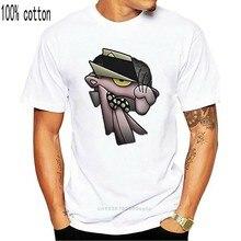 Mgm homme rose panthère t-shirt noir Rockabilia