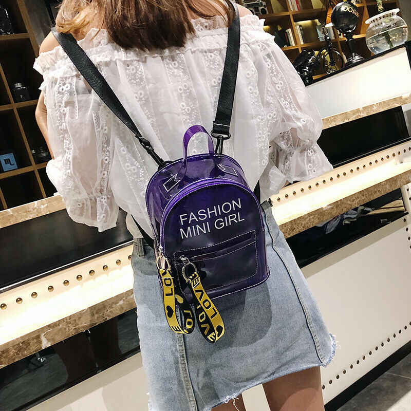 Fashion Helder Transparant Rugzak Stadion Security School Book Bag Travel Reizen Hot Dames Meisjes Candy Kleur Mini Rugzakken