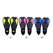 1 Pair Swimming Fins Adult Short Snorkeling Shoes Beginner Snorkeling Foot Flippers Diving Fins with Heel profession adult kids swimming fins snorkeling foot flipper diving fins beginner portable short frog shoes swimming equipment a