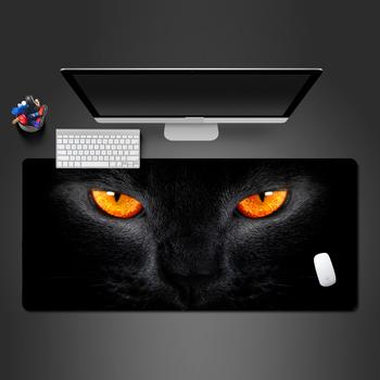 Najlepiej sprzedająca się podkładka pod mysz żółte oczy czarny kot gumowa podkładka pod mysz gra komputerowa podkładka pod mysz komputerową na gorące Trackball podkładki pod mysz podstawki tanie i dobre opinie TWTOWO CN (pochodzenie) RUBBER Z podpórką na nadgarstek Dostępny w magazynie