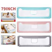 Baby Safety Barrier For Bed Adjustable Crib Rail Bed Child Safety Fence For Beds Foldable Playpen Bed Limiter Protective Barrier