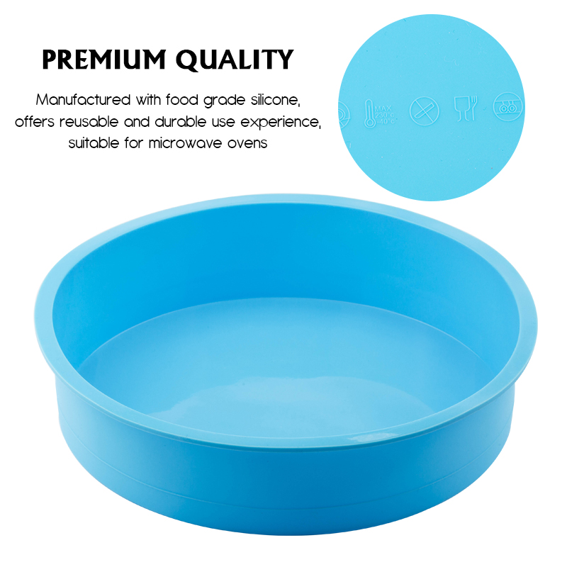Image 2 - Random Color Silicone Cake Round Shape Mold Kitchen Bakeware DIY Desserts Baking Mold Mousse Cake Moulds Baking Pan Tools-in Cake Molds from Home & Garden