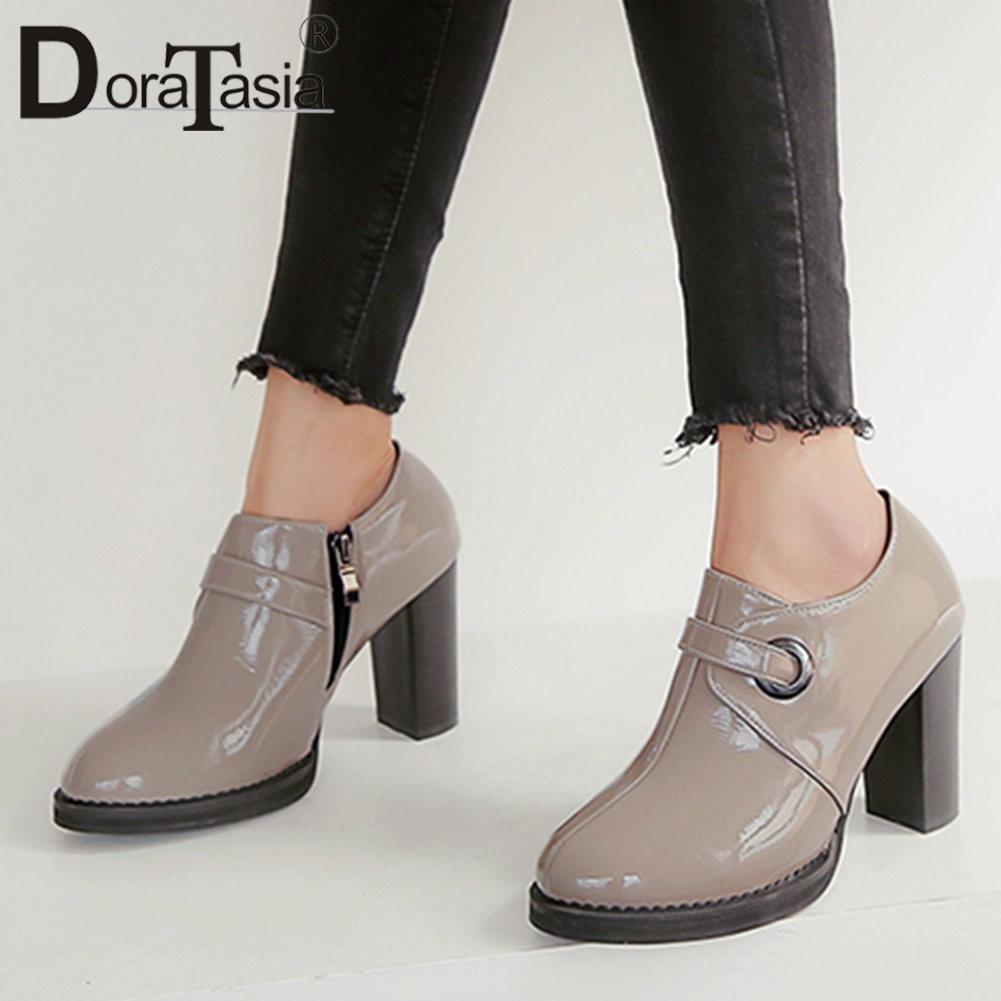 DORATASIA Women Shoes Office Pumps High-Heels 34-43-Zip-Pumps Female Big-Size Casual