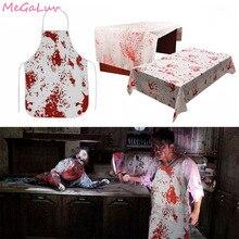 Halloween Dekoration Blutige Handabdrücke Erwachsene Metzger Blutige Schürze Scary Horror Cosplay Zombie Party Liefert