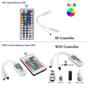 Image 2 - WIFI RGB LED RGBW Controller IR รีโมทคอนโทรลแบตเตอรี่สำหรับ DC 12V RGB 2835 5050 LED Strip โมดูลไฟ LED light