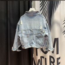 European Style Jean Jacket Womeb New Retro Light Blue Denim Jacket