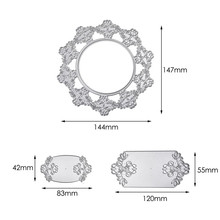 Naifumodo Flower Round Dies Lace Rectangle Frame Metal Cutting for DIY Scrapbooking Craft Card Embossing Die Cut Template