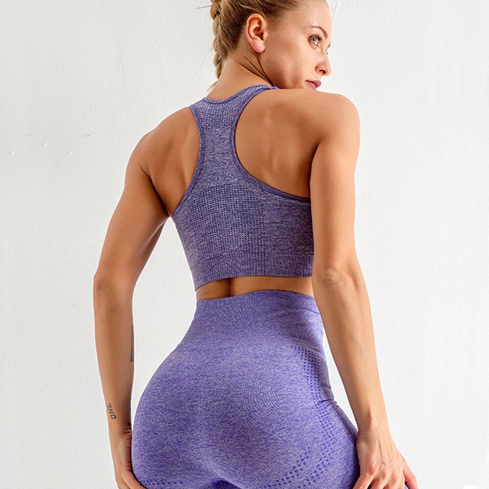 5 шт бесшовный комплект для йоги спортивная одежда спортивный