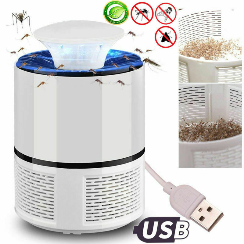 6 Lamp Electronic Mosquito Killer Indoor Mosquito Trap Inhaled Fly USB Charger Sleep Mosquito Repelling Tools Lights